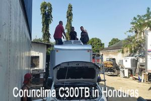 Corunclima All-Electric Transport Refrigeration Unit C300TB Installed in Honduras