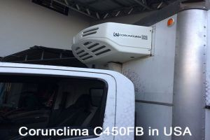 Corunclima All-Electric Transport Refrigeration Unit C450FB Installed in USA