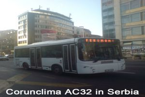 Corunclima Bus Air Conditioner AC32 Installed in Serbia